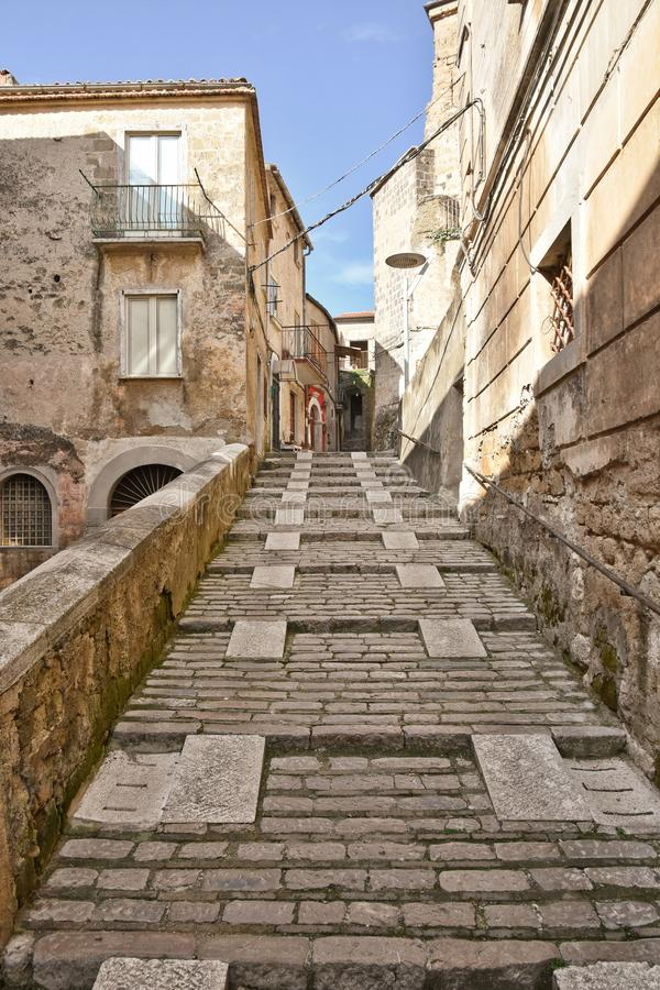 A street in Pietramelara, a historic Italian town. royalty free stock photography
