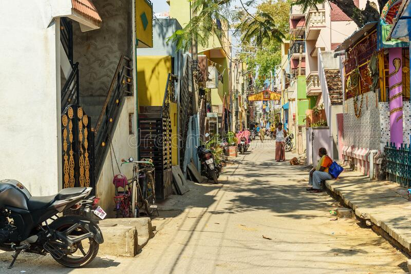 On the street in Pottery town is old place in Bangalore. India royalty free stock image