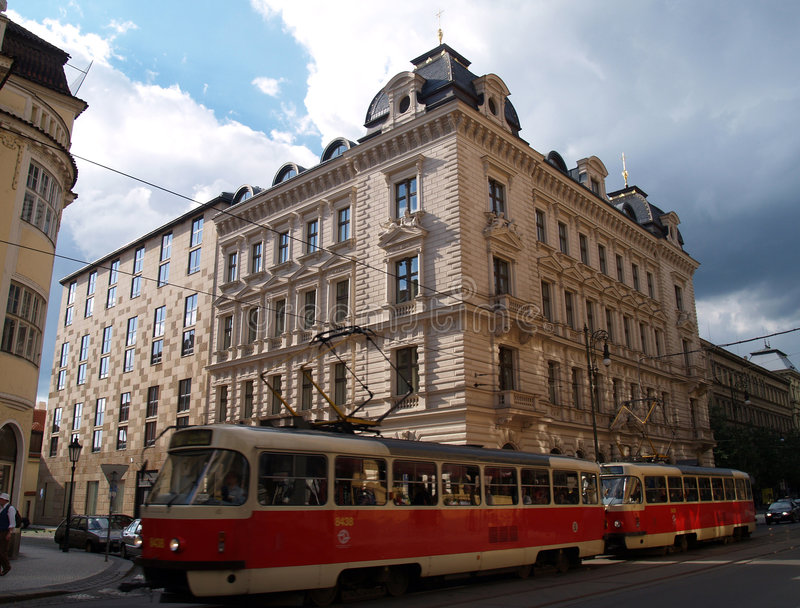 Download Street of Prague,Europe stock photo. Image of clouds, europe - 827118