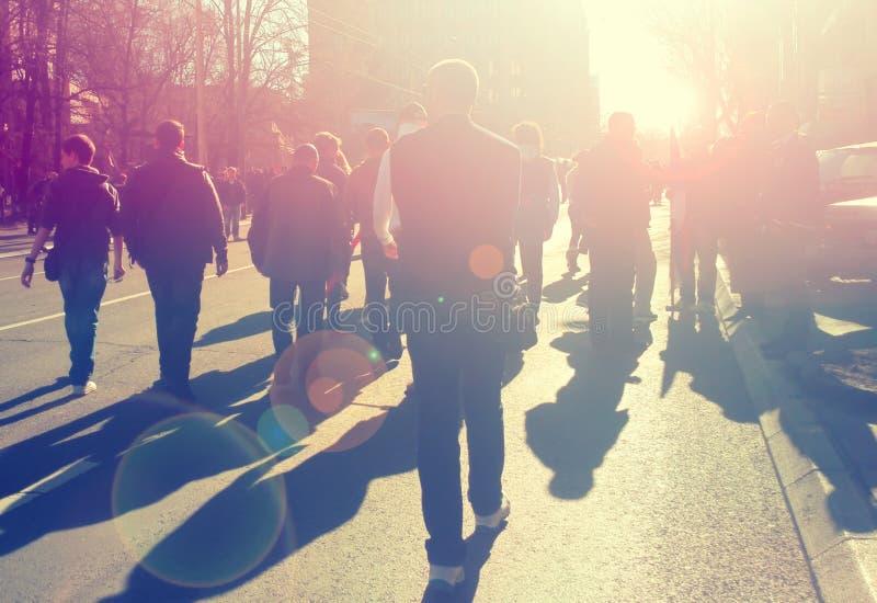 Street protest stock photo