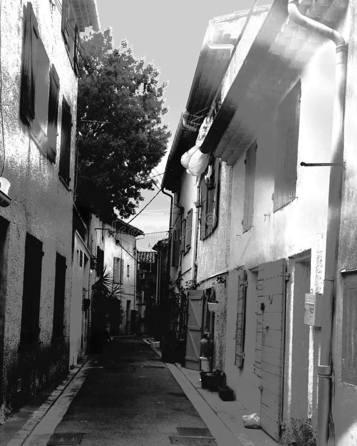 Street of a provencal village. France, provence royalty free stock photos