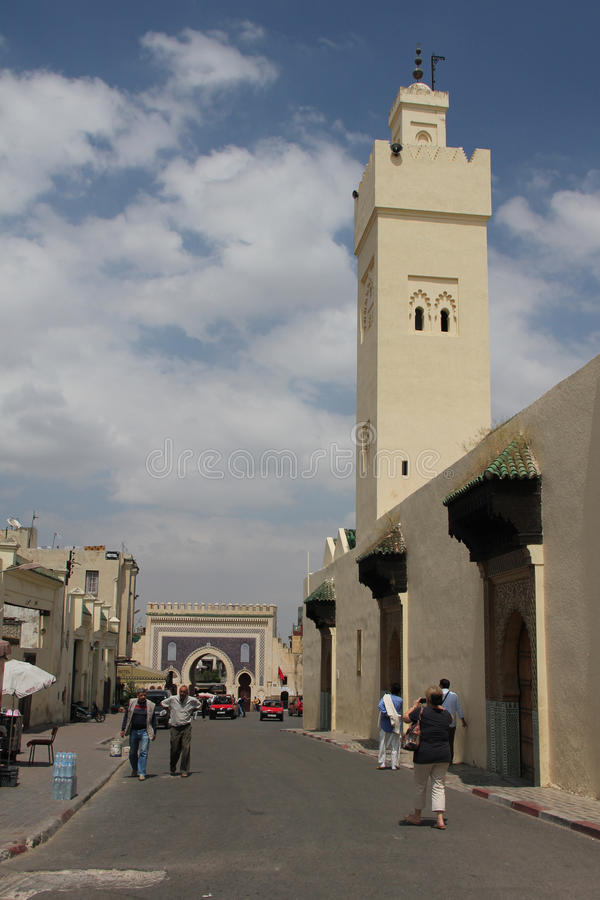 Street in Rabat, Morocco stock photography