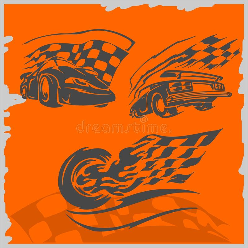 Street Racing Cars vector illustration