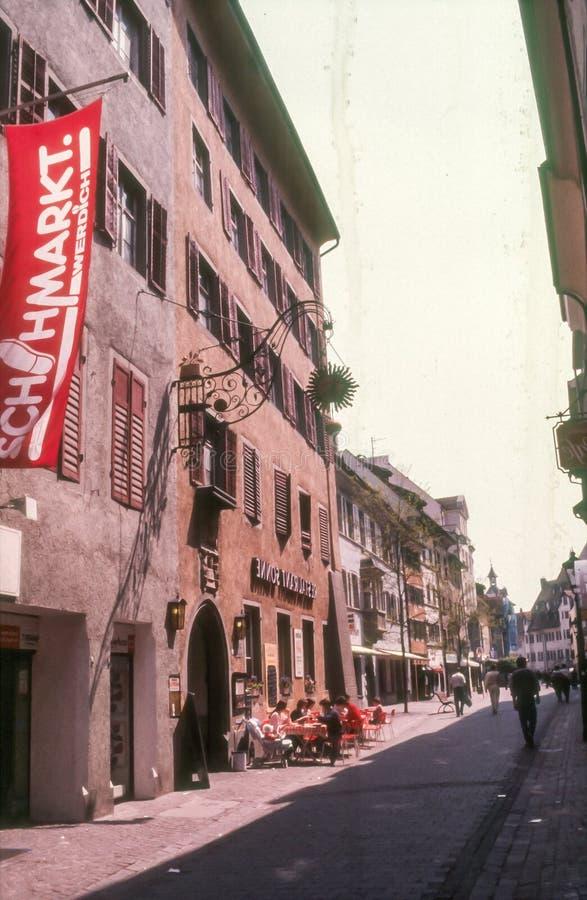 Street in Radolfzell stock photos