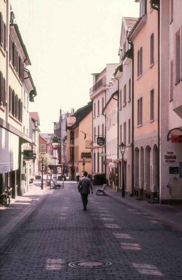 Street in Radolfzell stock photography
