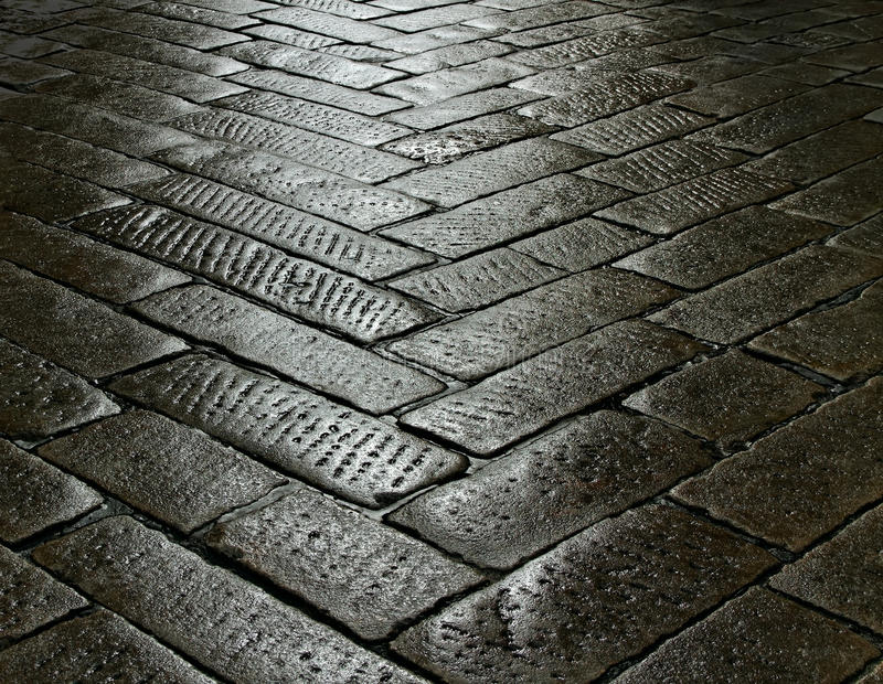 On the street. On the street after rain royalty free stock photo