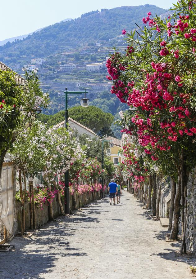 Street in Ravello, Amalfi Coast, Italy, royalty free stock photo