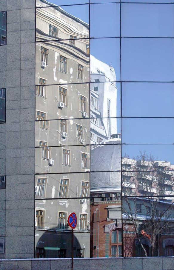 Street reflection royalty free stock image