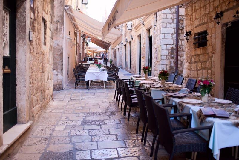 Street restaurant royalty free stock image