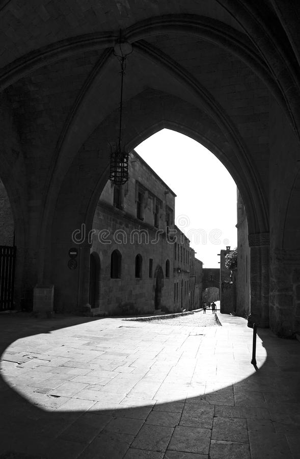 Street in Rhodes old town royalty free stock images