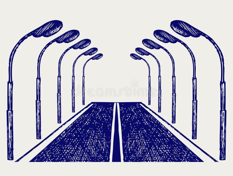 Download Street road stock vector. Image of embankment, draw, outdoor - 30886083