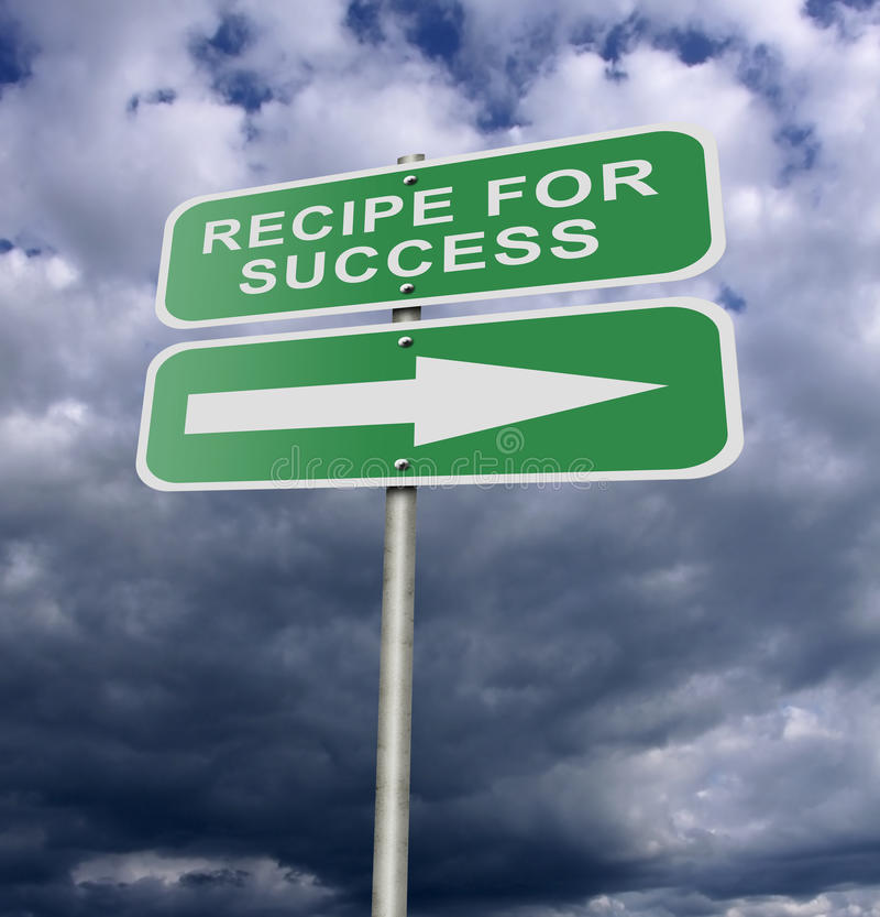 Download Street Road Sign Recipe For Success Stock Illustration - Image: 22708622