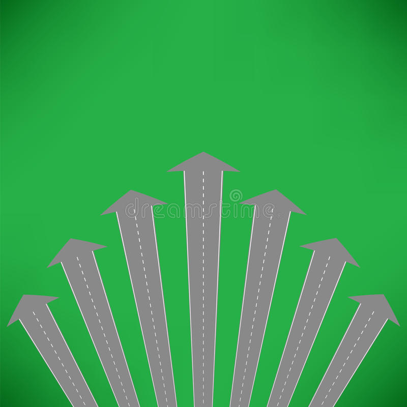 Street Roads Icon. On Green Background. Travel Concept royalty free illustration