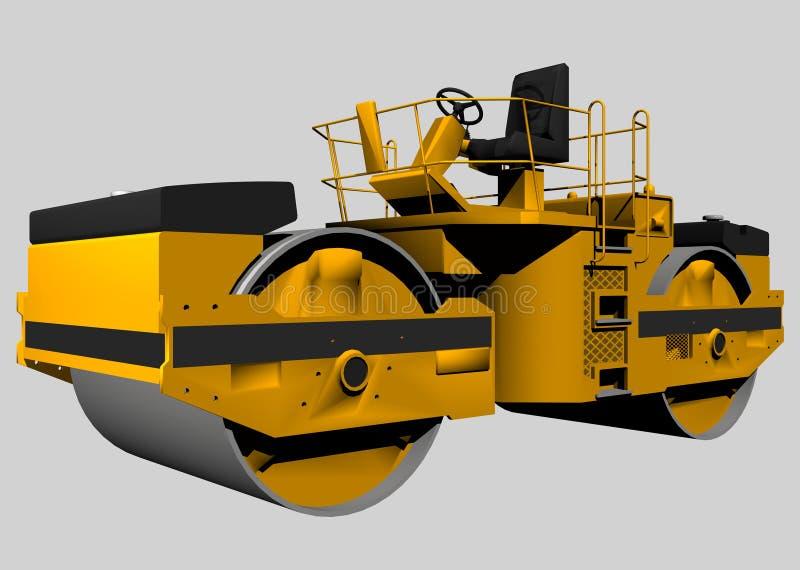 Download Street Roller stock illustration. Image of shovel, hydraulic - 642086