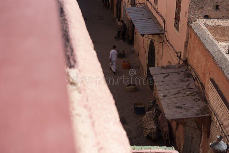 StreetÂs av Marrakesch, Marocko arkivfoto