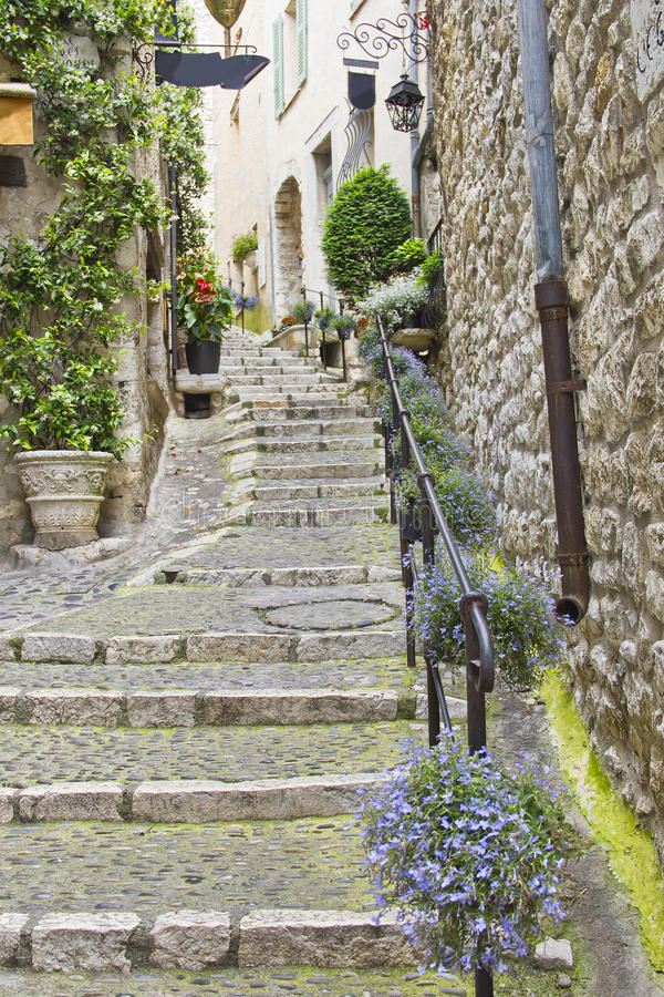 Street in Saint Paul de Vence, France royalty free stock images