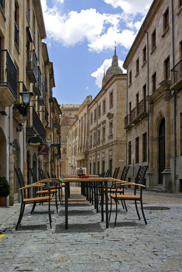 Street at Salamanca Spain royalty free stock photo