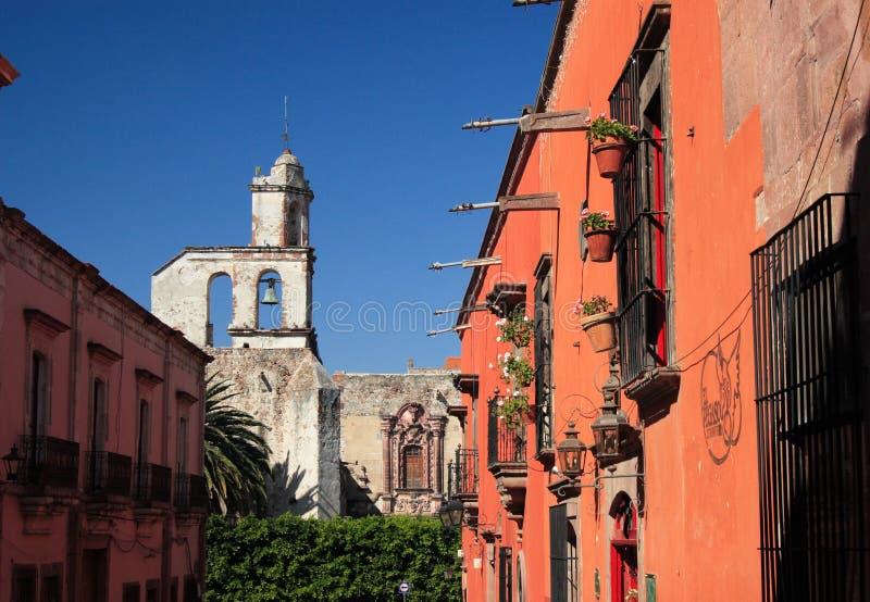 Street of San Miguel de Allende, Guanajuato, Mexico. San Miguel de Allende, Guanajuato, Mexico Founded in 1542 by Fray Juan de San Miguel, a Franciscan monk, San royalty free stock images