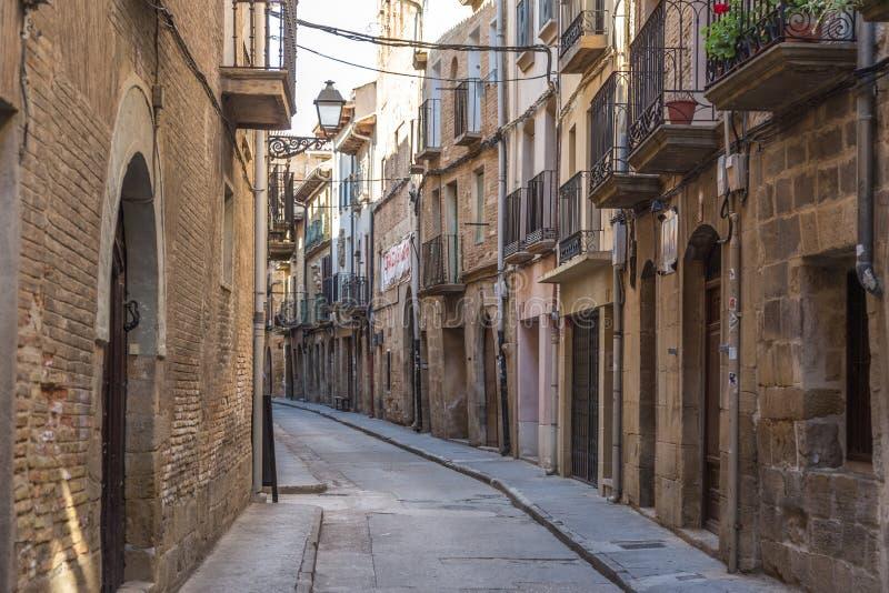 Street of San Sebastian, Spain. Narrow, empty street in San Sebastian, Spain stock image