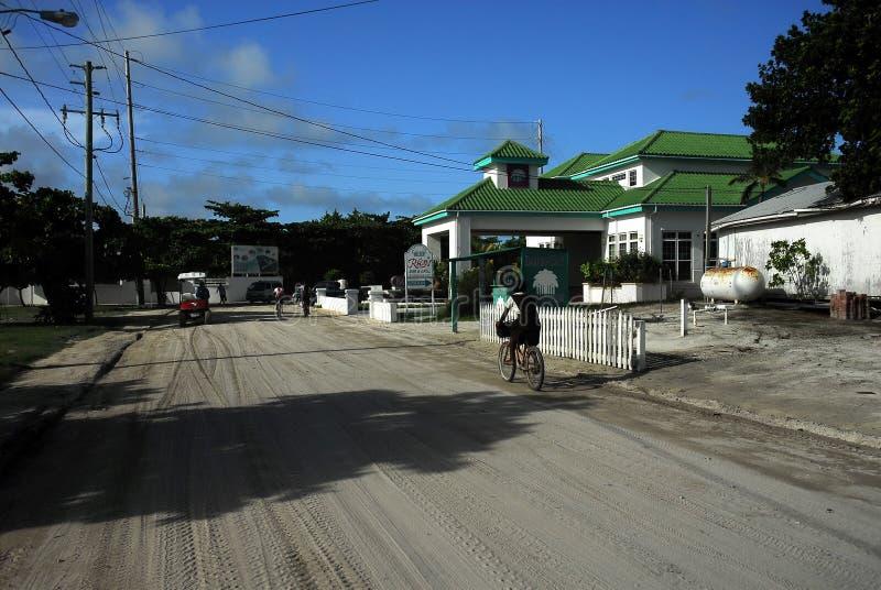 Street scene in belize royalty free stock photo
