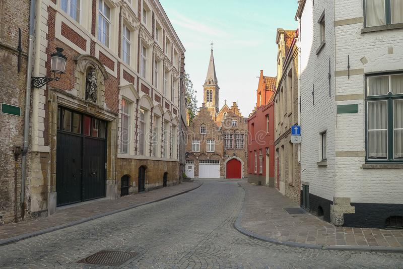 A street scene in Bruges in Belgium. A street scene in Bruges Belgium royalty free stock photos