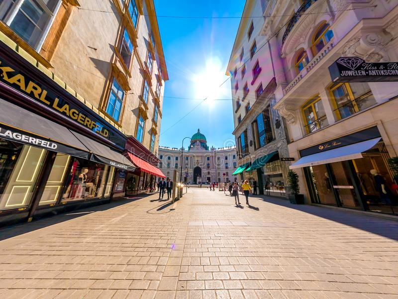 Street scene in the centre of Vienna royalty free stock photography