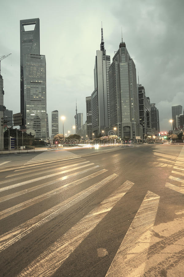 Download The Street Scene Of The Century Avenue In Shanghai,China. Stock Photo - Image: 29045426