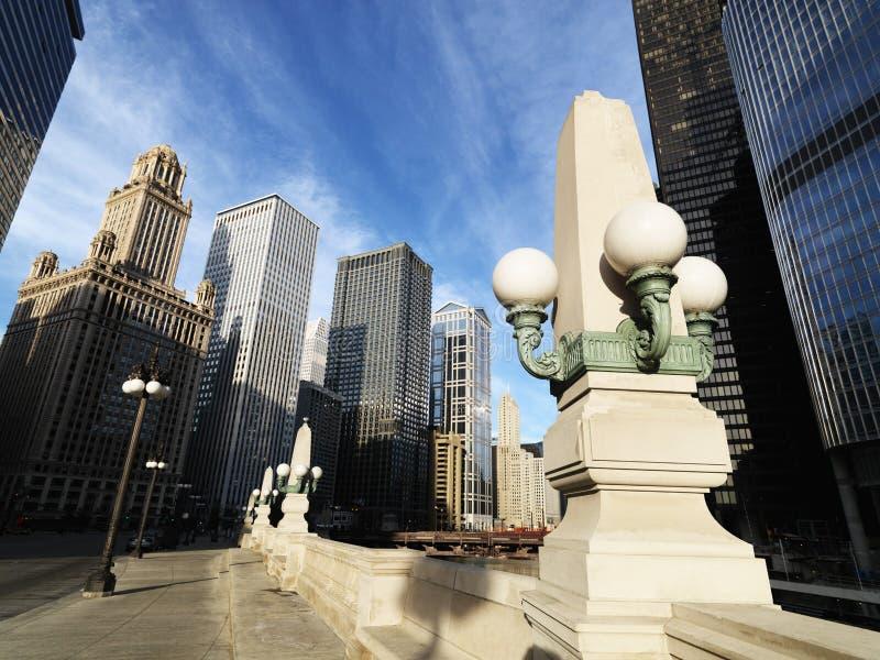 Street scene in Chicago. Illinois royalty free stock photo