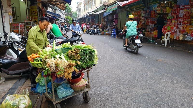 Street scene in city of Hanoi stock images