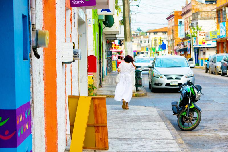 Mexican Street Scene. A street scene at colorful and rustic Tuxpan, Veracruz state in Mexico royalty free stock photography