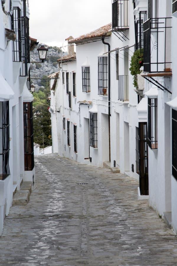 Street Scene; Grazalema. Street Scene in Grazalema; Andalusia; Spain royalty free stock image