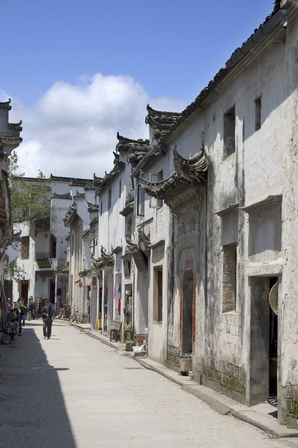 Street scene Hongcun. Street in the world heritage village at Hongcun, Anhui, China stock images