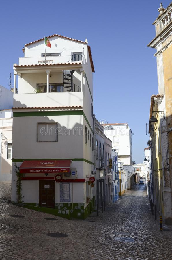 Lagos city streets, Portugal royalty free stock photo