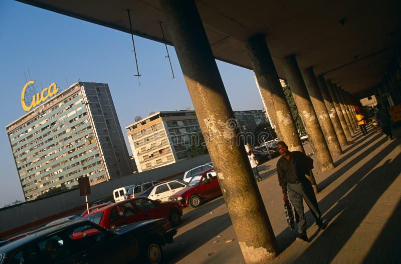 A street scene in Luanda, Angola. royalty free stock photography