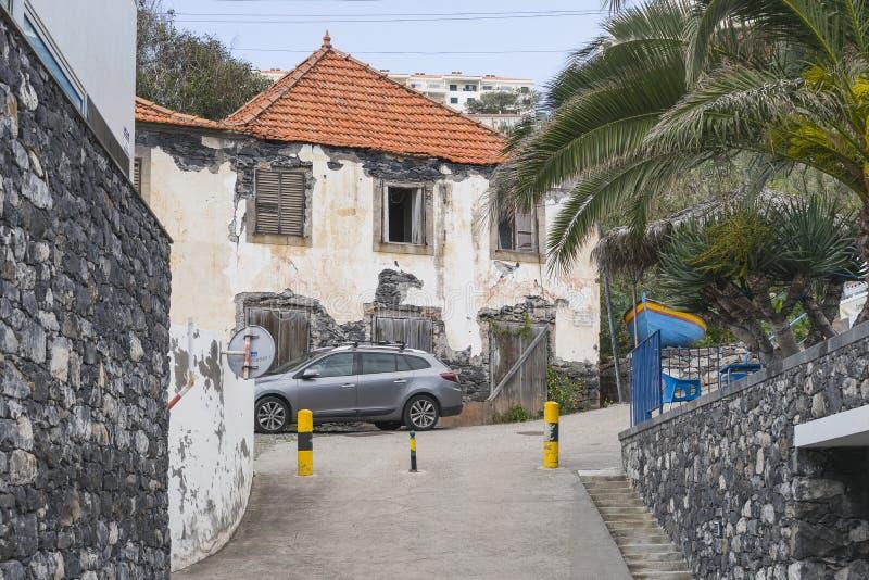 Street scene at Madeira, Portugal stock photos
