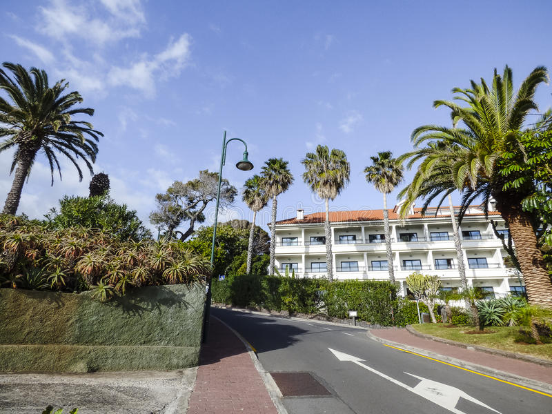 Street scene at Madeira, Portugal royalty free stock image