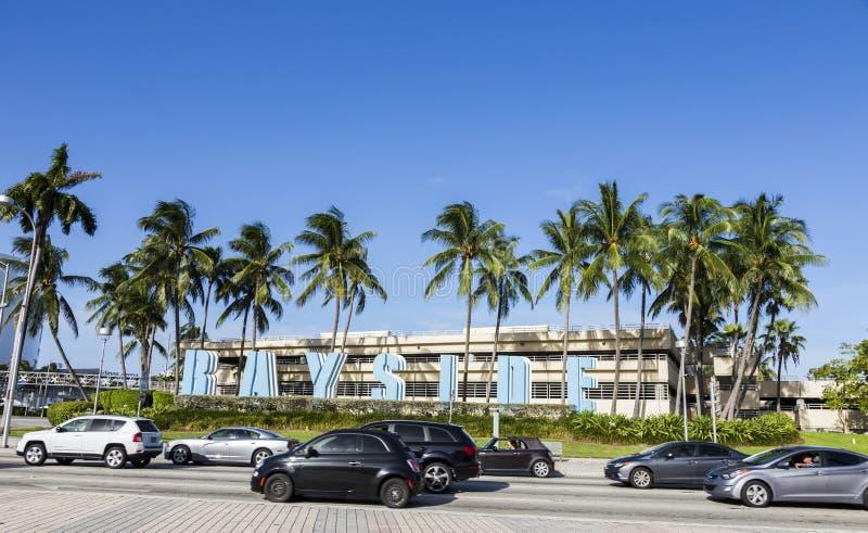 Street Scene in Miami stock photography