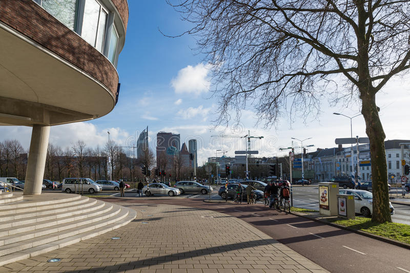 Street scene near the provincial House of the Hague in the Netherlands royalty free stock photography