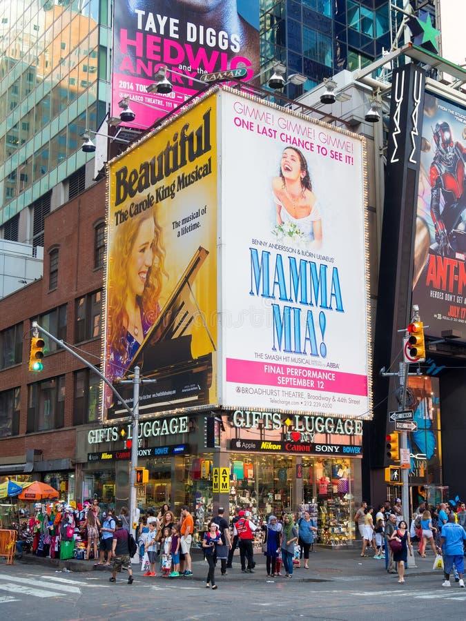 Street scene near Times Square in New York City stock photo