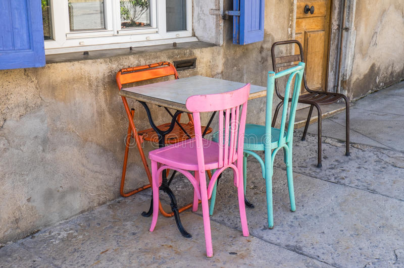 Street scene Provence Southern France stock photos