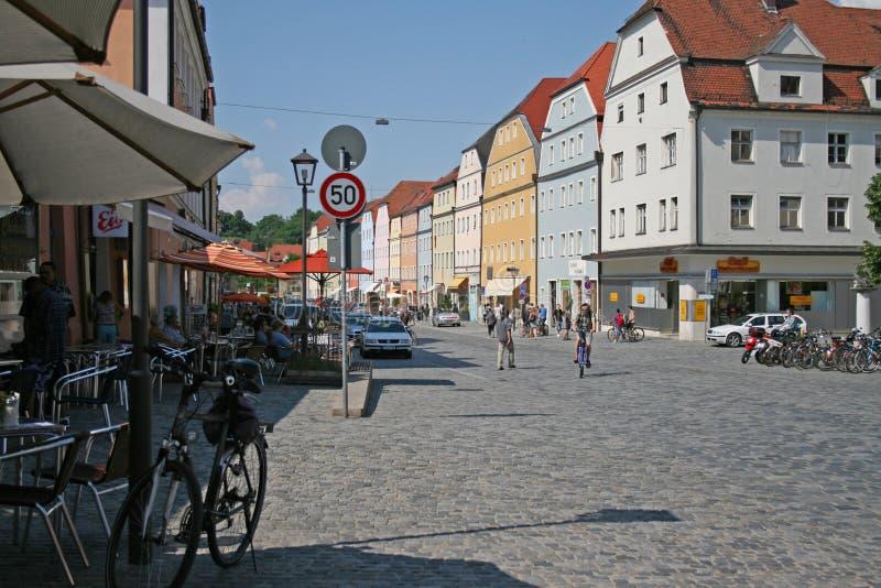 Street scene in Regensburg (Germany). royalty free stock photos