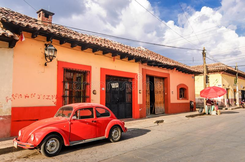 Street scene in San Cristobal de las Casas, Mexico stock images