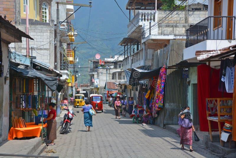 Street scene Santiago Atitlan stock image