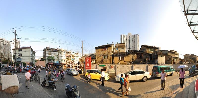 Street Scene of Shanghai, China royalty free stock image