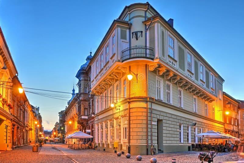 Street scene, Timisoara, Romania stock images