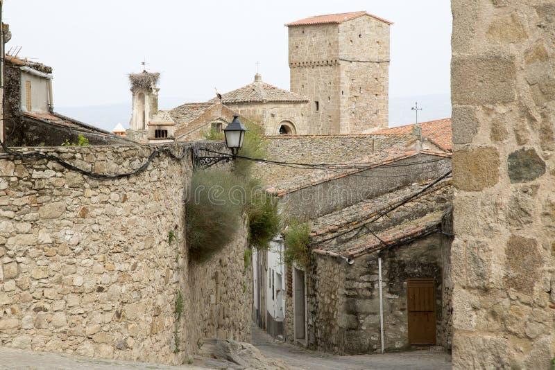 Street Scene, Trujillo; Extremadura royalty free stock photo