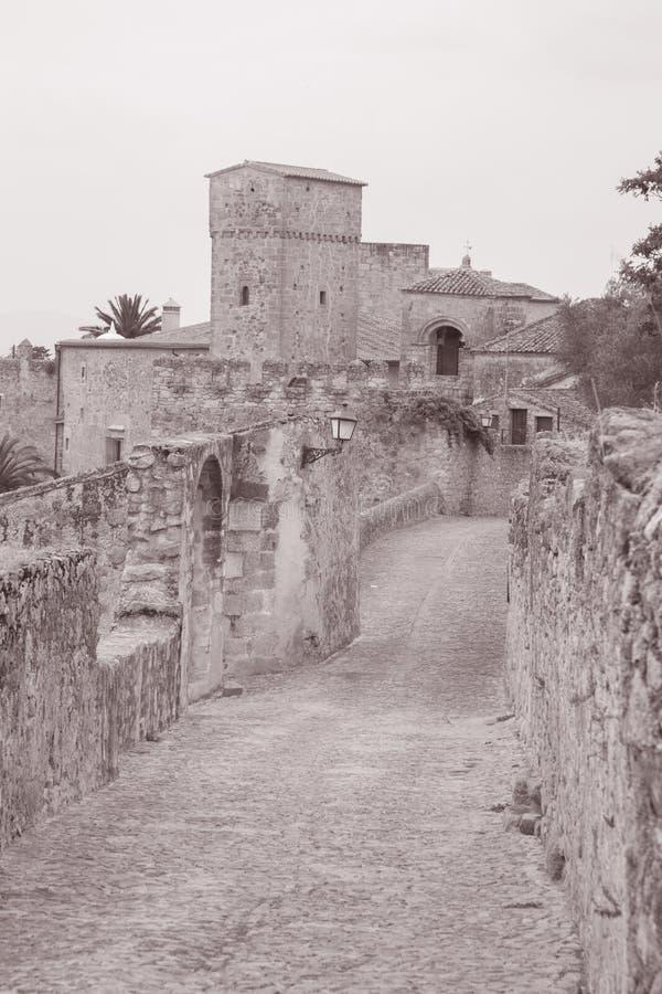 Street Scene; Trujillo; Extremadura; Spain royalty free stock photo