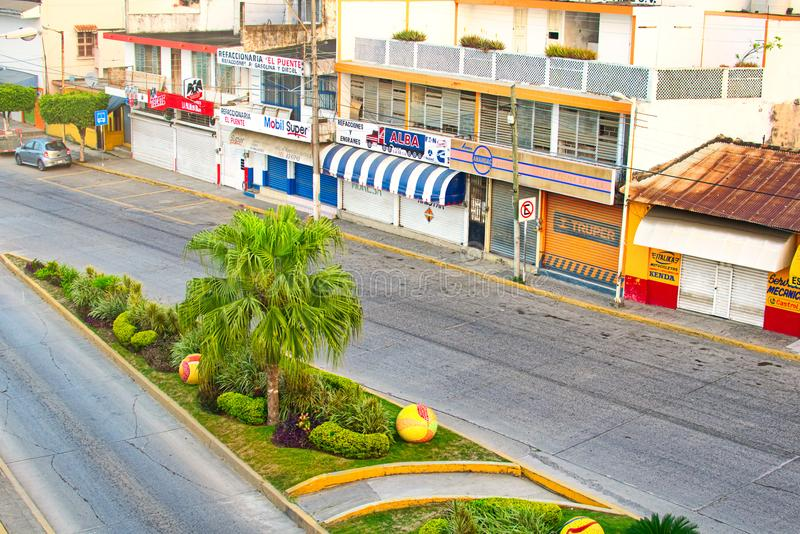 Mexican Street Scene. A street scene from Tuxpan, Mexico on the Gulf Coast of Mexico royalty free stock photos