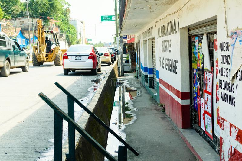 Mexican Street Scene. A street scene from Tuxpan, Mexico on the Gulf Coast of Mexico royalty free stock image