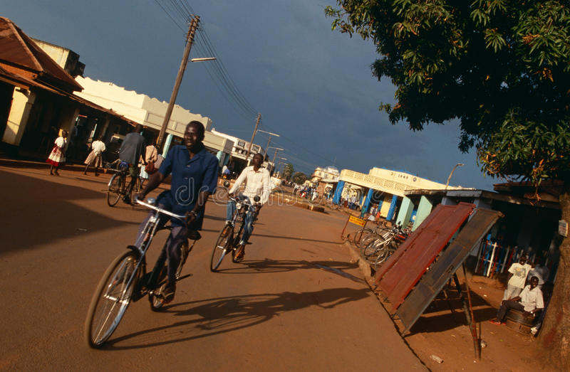 A street scene in Uganda. royalty free stock photography